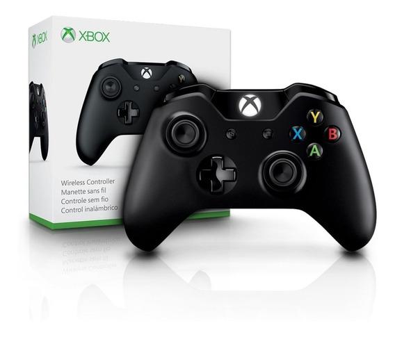 Controle Xbox One Preto Microsoft Wireless Original Saída P2