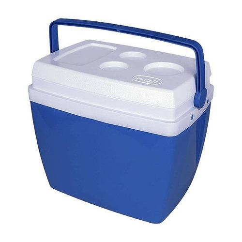 Imagem 1 de 6 de Caixa Térmica Com Alça 34 Litros Azul Mor