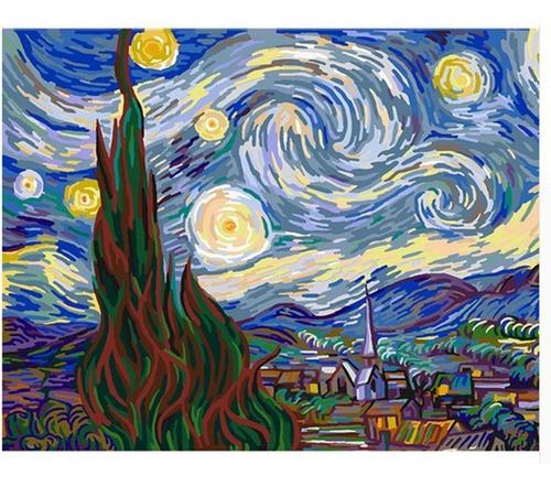 Pintura Numerada Noite Estrelada (starry Night) Van Gogh