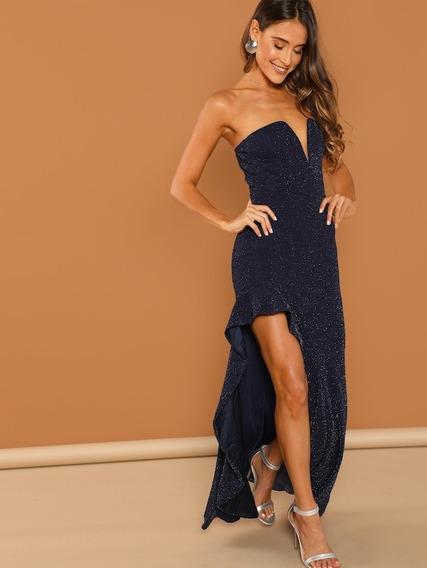 Vestido De Fiesta Glitter Importado Eventos Casamiento 15