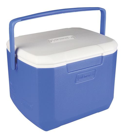 Cooler Coleman 15lts. Azul De Camping Abatible Con Bisagra
