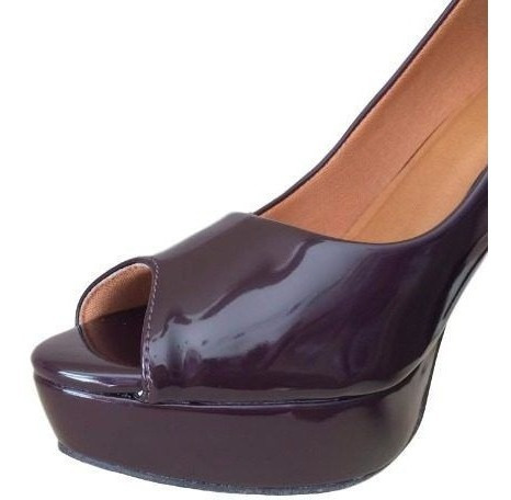 Sapato Salto Alto Feminino Meia Pata Borgonha Vinho 037