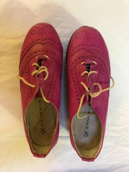 Zapatos Mocasín Fucsia Nazaria N38