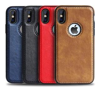 Forro iPhone 6 6s 7 8 Plus X Xs Xr Xs Max Cuero (10)