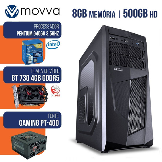 Computador Intel Pentium G4560 3.5ghz 7ª Ger 8gb Hd 500