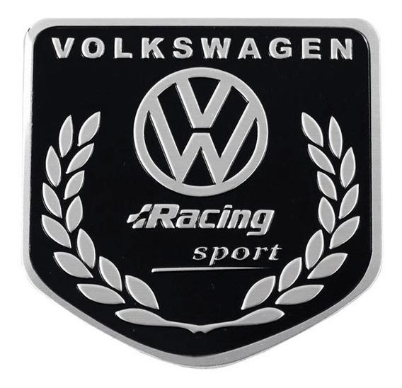 Emblema Vw Racing Volkswagen - Fusca Gol Golf Jetta !!