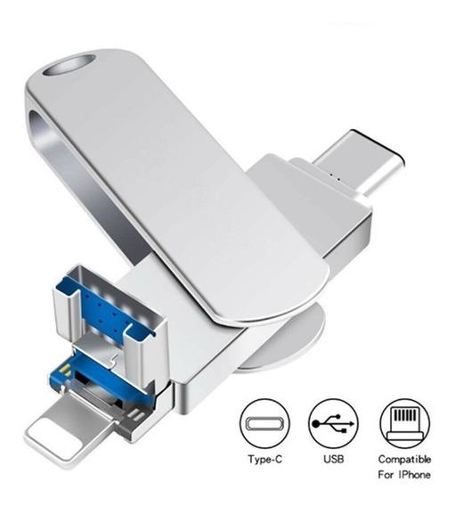 Pendrive 64gb Samsung Type C iPhone 5 6 7 8 X Xs iPad Pc Mac
