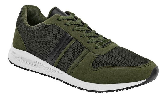 Tenis Deportivo Hombre Hs Casual 7400 Olivo 091-176 T4