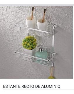Organizador De Baño - Estante Recto Aluminio 2 Pisos