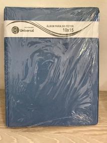 Kit 3 Álbuns 200 Fotos 10x15 Cetim Azul