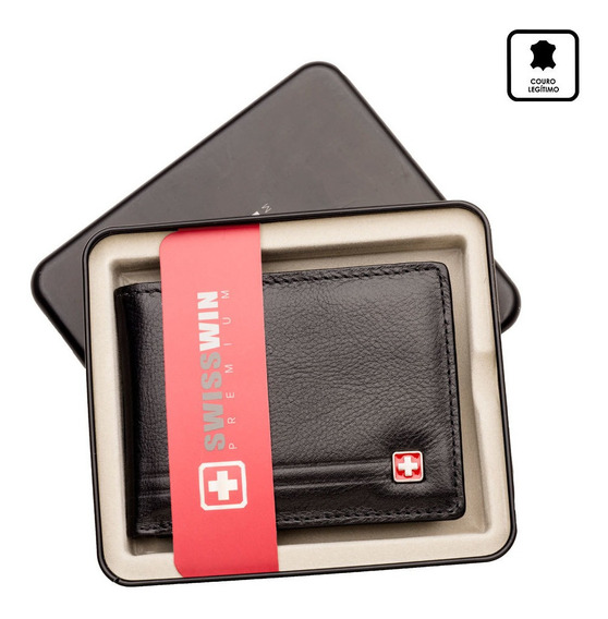 Carteira Swisswin Com Porta Nota E Cartao