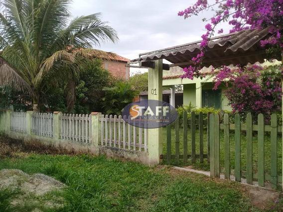 Casa Com Terreno De 320 M² Em Unamar - 2° Distrito De Cabo Frio. - Ca1057
