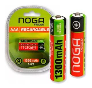 Pila Recargable Aaa Noganet Power 1300 Mah Capacidad