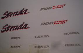 Kit Adesivos Honda Cbx 200 Strada 1994 Vermelho