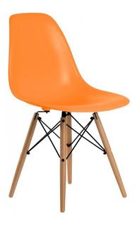 Silla Eames Moderna Madera Minimalista Oficina Colores