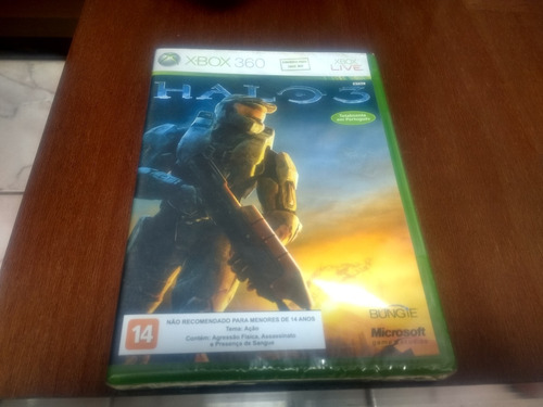 Halo 3 X Box 360 Mídia Física Original Lacrado Novo