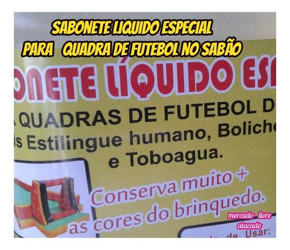 Futebol Sabão Kit C/4lts De Sabonete Liquido Especial+brinde
