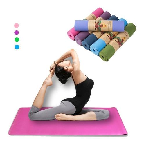 Yoga Durable Mat 6mm Reales + Bolso De Transporte