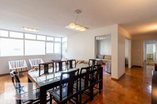 Belíssimo Apartamento 181 M²a.u. - 3 Dorm 1 Suíte 1 Vaga - Rua José Maria Lisboa - Jardim Paulista - Metrô Trianon-masp - Ap5378