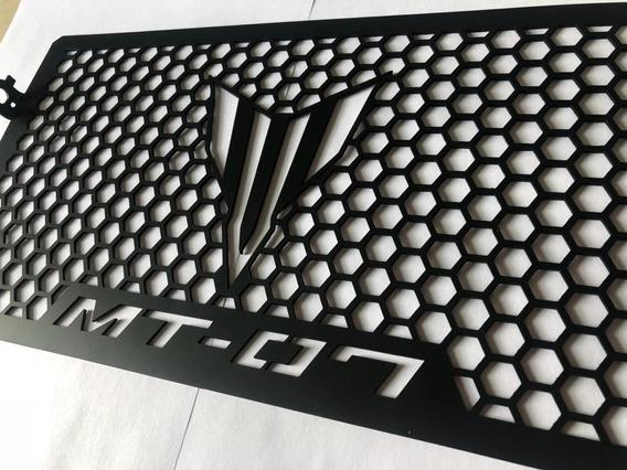 Grade Protetor Radiador Yamaha Mt-07 Preta