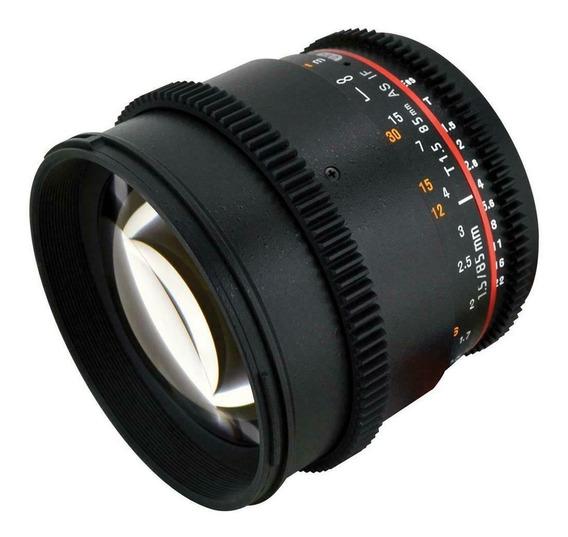 Lente Rokinon 85mm T1.5 Cine (canon)