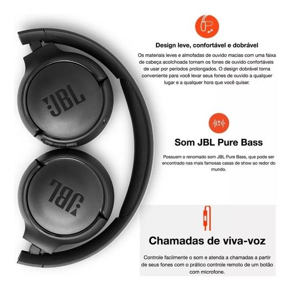 Fone De Ouvido Bluetooth Jbl Tune T500bt Preto