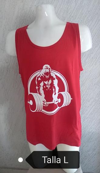 Playera Resacada De Algodón Diseños Gym Para Hombre