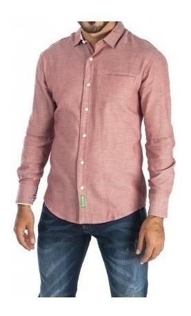 Camisa Trend Link 4010m Roja Para Hombre
