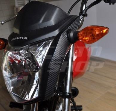 Adesivo Fibra Carenagem Frontal Moto Honda Fan Titan > 20