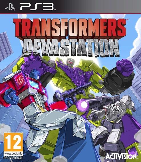 Jogo Ps3 Transformers Devastation Midia Fisica Novo!!