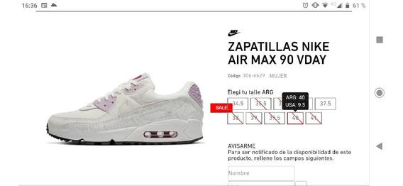 Zapatillas Nike Air Max Nuevas Numero 9,5 Igual Talle 40 Arg