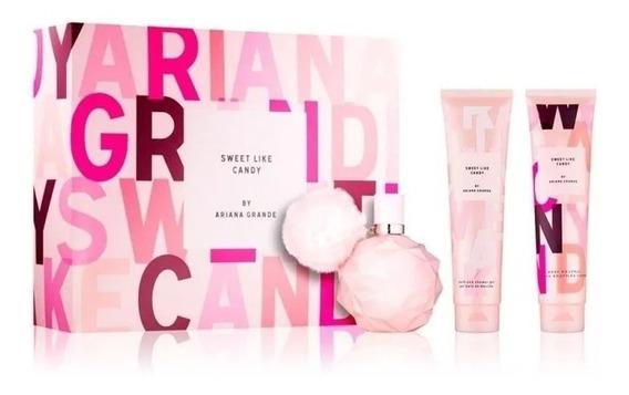 Ariana Grande Sweet Like Candy Kit (3peças) Perfume 100ml