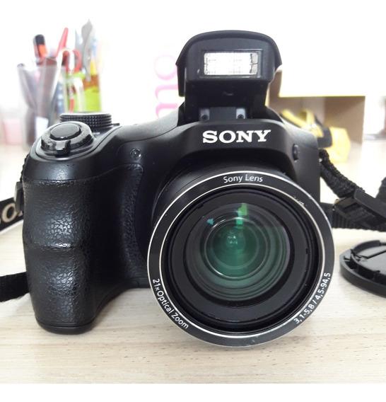 Câmera Sony Dsc H100+acessórios +frete Gratis