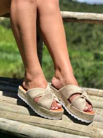 Sandália Plataforma Espadrilhe Salto Corda