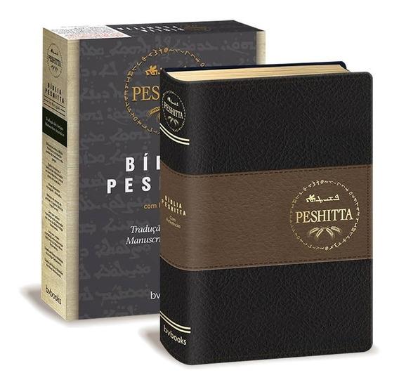 Bíblia Peshitta Preta E Marrom Traduçao Antigos Manuscritos