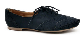da7d09655d Sapatos Sociais e Mocassins para Feminino Oxfords Azul com o ...