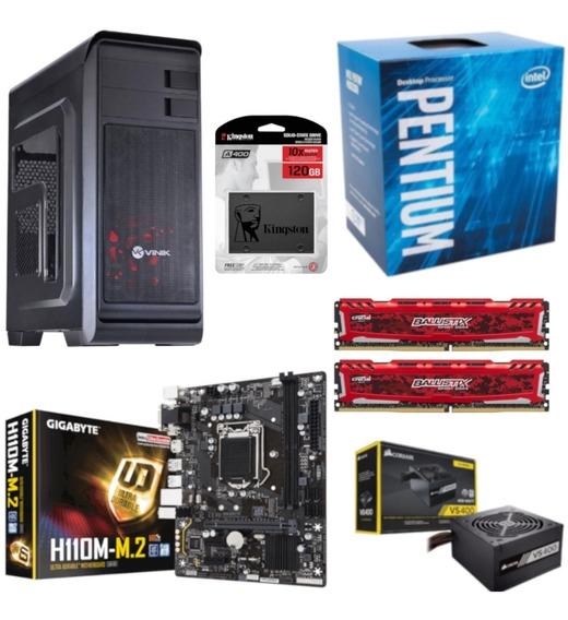 Pc Hunter Pentium G4560 H110m M2 Bl 16gb Vs400 Ssd 120gb