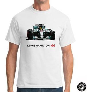 Camiseta Lewis Hamilton 44 Mercedes F1 W08 + Adesivo