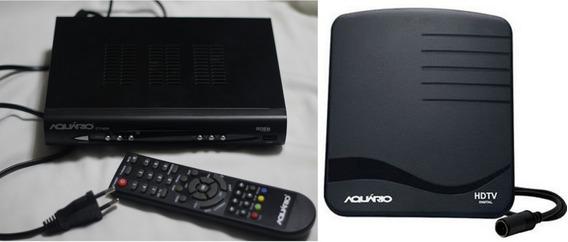 Conversor Digital Aquário Dtv 8000 E Antena Digital