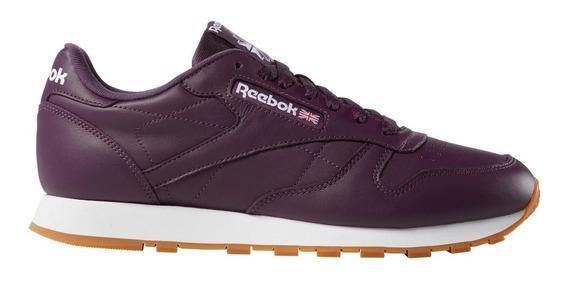 Zapatillas Reebok Classic Leather Vio/bla De Hombre