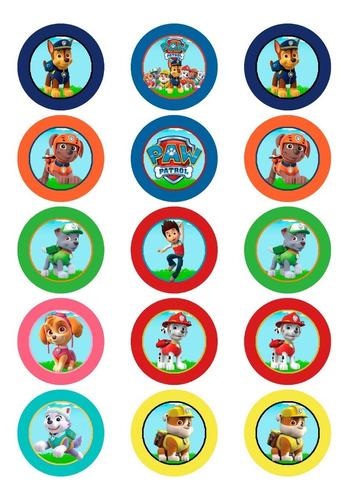 Topper Cupcakes Paw Patrol Para Imprimir Digital