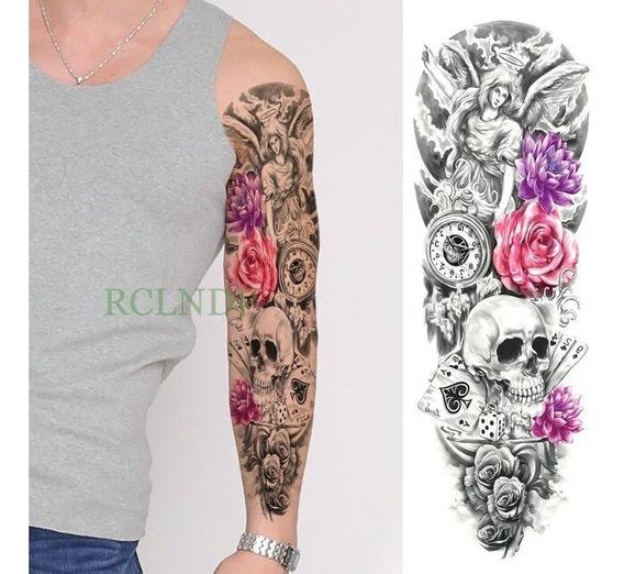 Tatuagem Temporária Grande * Fake Tattoo - Caveira