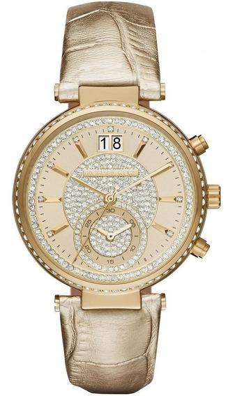 Relógio Michael Kors Feminino Sawyer Cronógrafo Mk2444/2dn