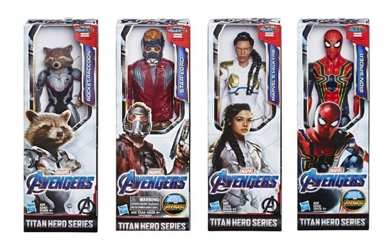 Pack 4 Bonecos The Avengers Vingadores Power Fx Hasbro E3308