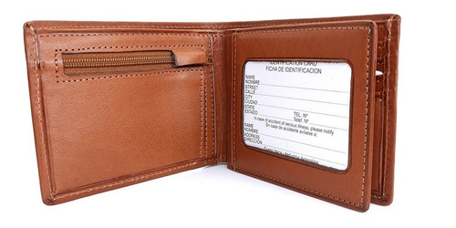 Imagen 1 de 3 de Billetera De Cuero Con Monedero Para Hombre