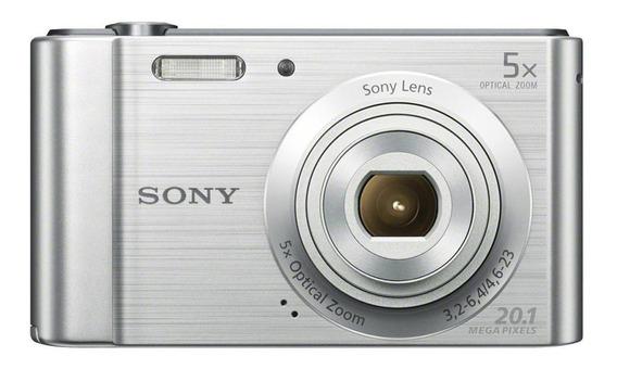 Sony Cyber-shot W800 compacta cor prata