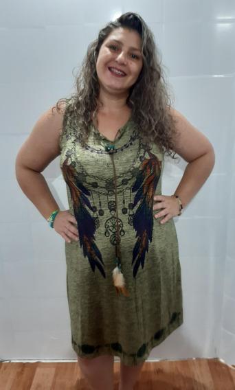 Vestido Bata Indiana Saída Praia Fem Fresquinho Plus Size