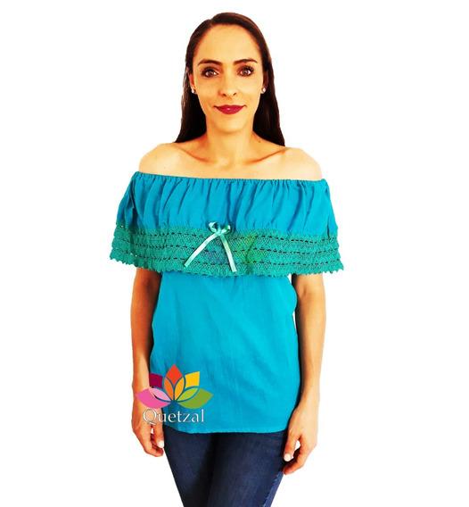Blusa Dama Campesina Mexicana Típica Artesanal