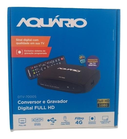 Conversor E Gravador Digital Aquário Dtv 7000s Hdmi Rca