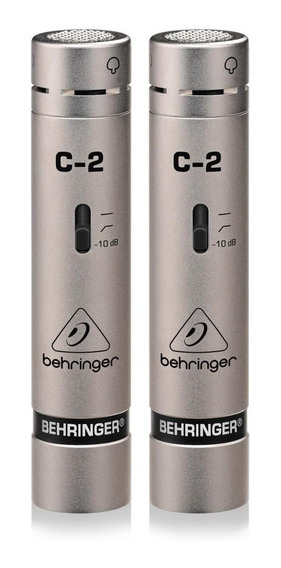 Kit de microfones Behringer C-2 condensador cardióide prateado